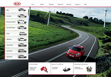 KIA website relaunch